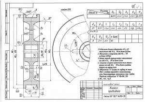 Крановое колесо К2Р 400х100