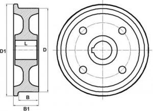 крановое  колесо К1Р
