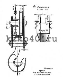 Крюковая подвеска ПК-5,0-14А-2-500-16,5 изготовленная по ОСТ 24.19.105-82.